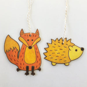 DIY Ornament Kit - Paint Your Own Ornaments - Fox & Hedgehog
