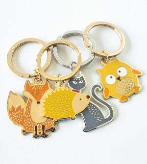 Cute enamel key chains