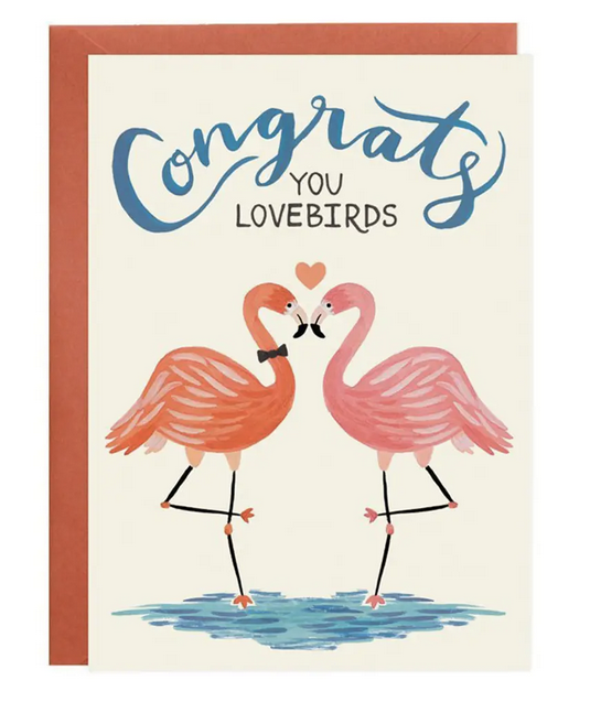 Love Birds - Wedding or Engagement Card