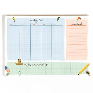 Weekly Desk Planner Notepad