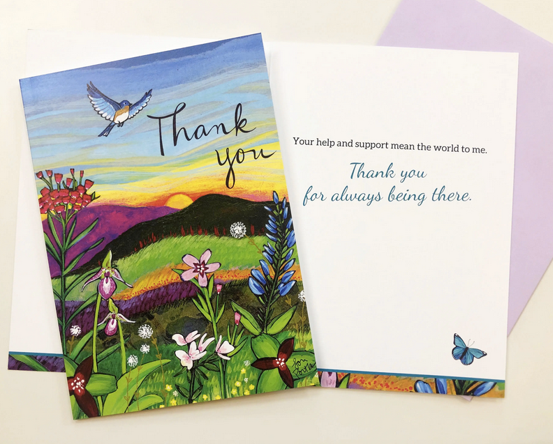 Thank You - Bird Greeting Card
