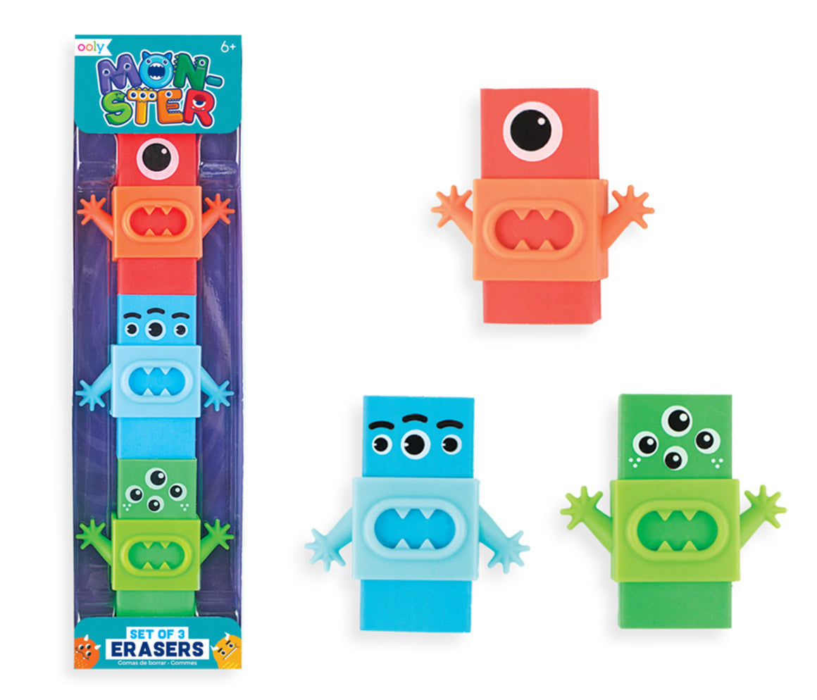 Monster Eraser Set - Art Supplies - School Supplies