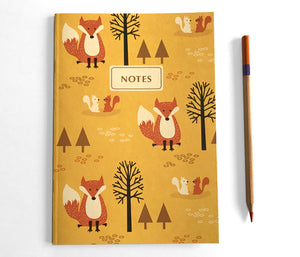 Fox Journal - Woodland Animals Notebook by The Imagination Spot