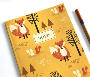 Fox notebook Journal - Woodland Notebook by The Imagination Spot