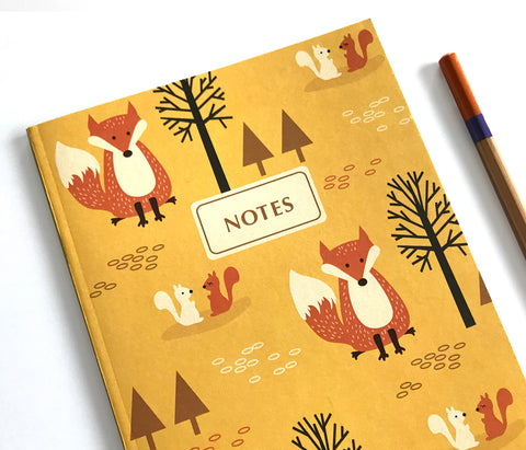 Fox Notebook Journal - Woodland Animals