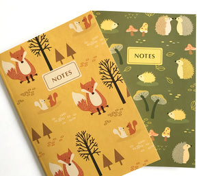 Fox Hedgehog notebook set - The Imagination Spot