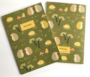 Woodland animals journal notebook
