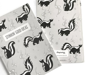 Recycled skunk notebook by The Imagination Spot