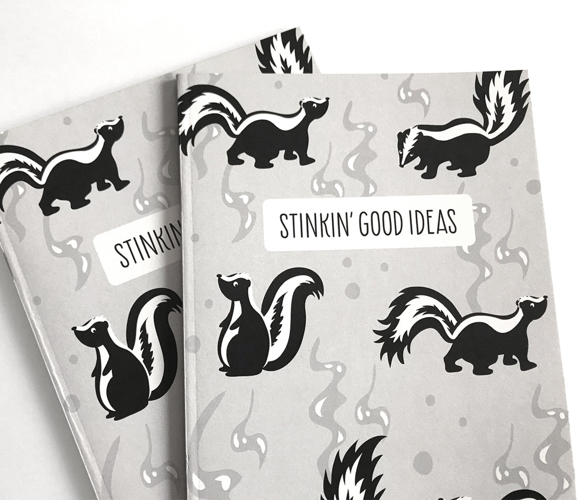 Funny skunk notebook by The Imagination Spot