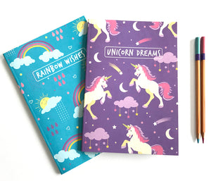 Rainbow Unicorn Notebook Set - The Imagination Spot