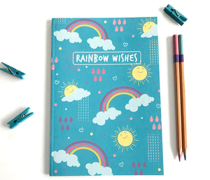 Cute rainbow notebook - The Imagination Spot