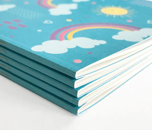 Rainbow recycled notebooks - The Imagination Spot