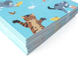 Whimsical cat notebook - The Imagination Spot
