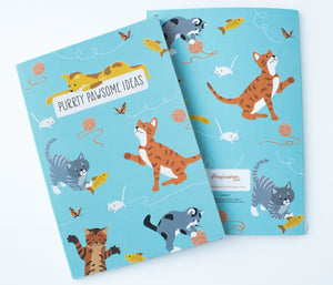 Playful Cats - Lined notebook