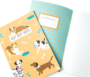 Cute dog notebook - Lined journal