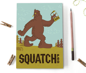 Sasquatch Notebook Journal - Squatch Pad