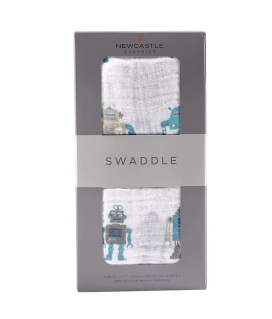 Muslin Baby Swaddle - Choose from a variety of colors and pattern
