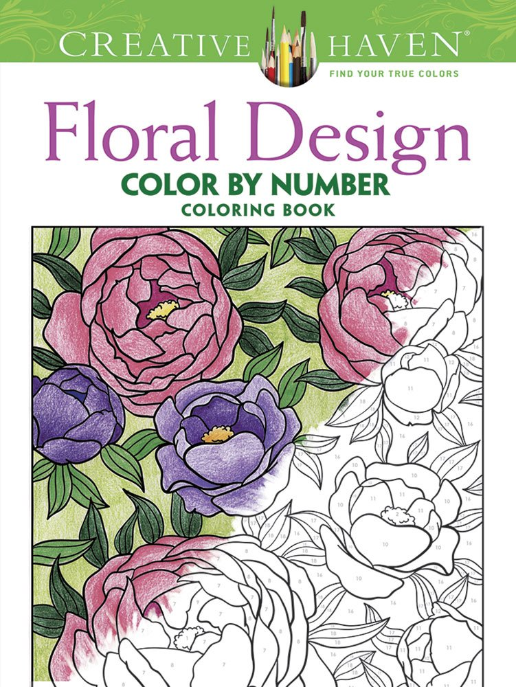 Color By Number - Floral Designs - Coloring Book