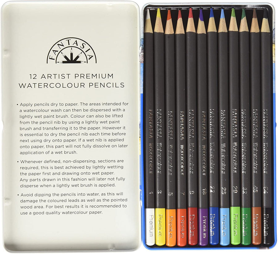 Fantasia Premium Watercolor Pencil Set - 12pc