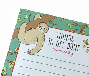 Funny Sloth Notepad - The Imagination Spot