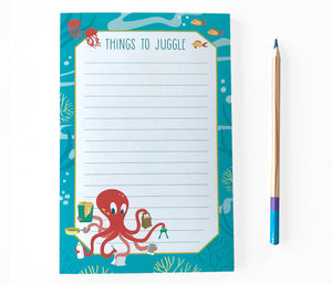 Octopus Notepad - Things to Juggle