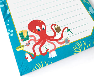 Cute Octopus Notepad - The Imagination Spot
