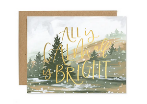 30% OFF - Calm & Bright - Christmas Card