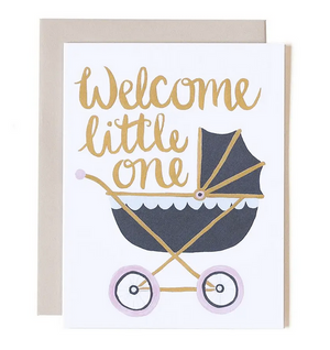 Welcome Little One - Carriage Baby Card