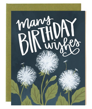Many Birthday Wishes - Greeting card