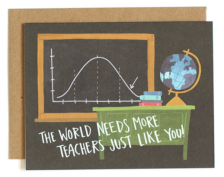 Teachers Like You - Greeting card