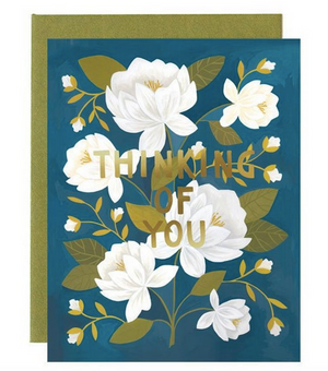 Thinking Of You Floral - Greeting Card