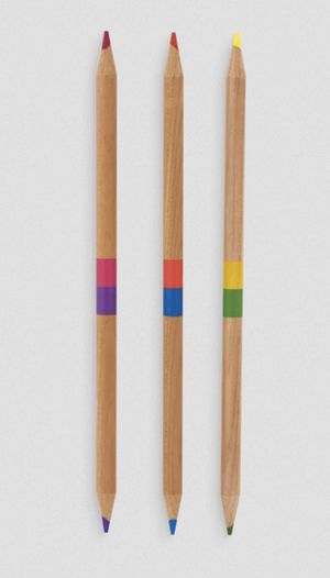 Double Ended Colored Pencil Set - 24 Colors