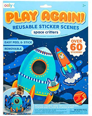 Play Again! Reusable Sticker Scenes - Space Critters