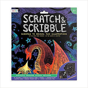 Scratch & Scribble Art Kit - Fantastic Dragons