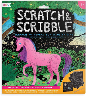 Scratch & Scribble Art Kit - Magical Unicorns
