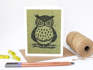 Owl Note Card Set - Linocut - Handmade Cards - The Imagination Spot - 2