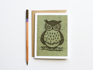 Owl Note Card Set - Linocut - Handmade Cards - The Imagination Spot - 3