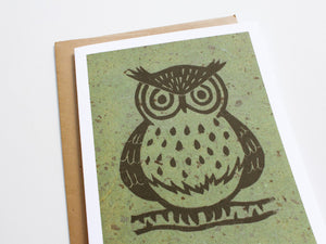 Owl Note Card Set - Linocut - Handmade Cards - The Imagination Spot - 4