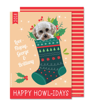 Personalized Pet Christmas Card - Custom Dog Holiday card