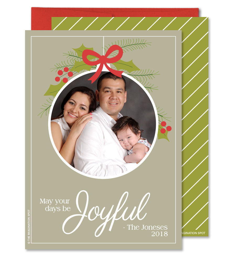 Christmas Photo Card - Family Ornament