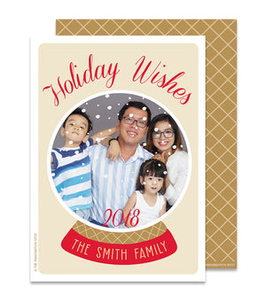 Christmas Photo Card - Family Snowglobe