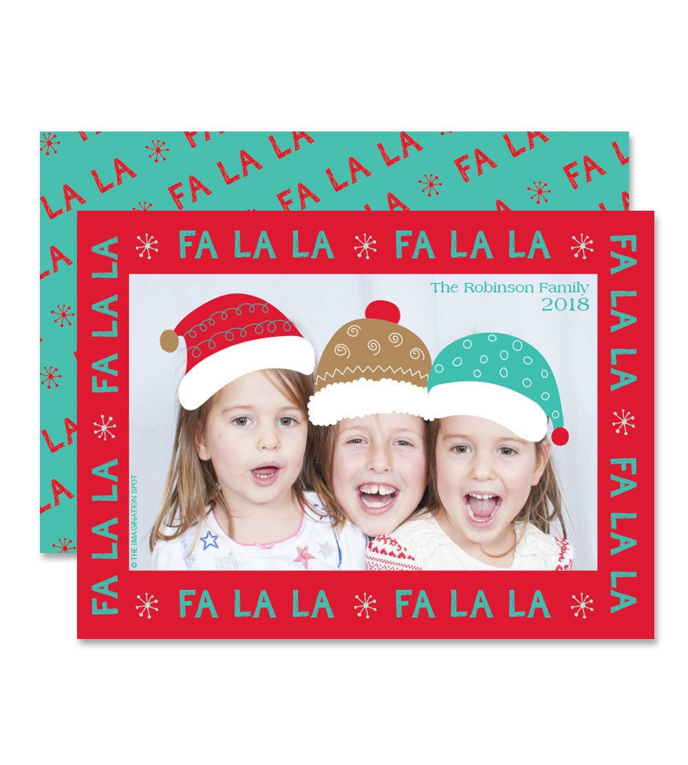 Personalized Christmas Photo Card - Fa La La