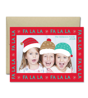 Christmas Photo Card - Fa La La
