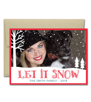 Christmas Photo Card - Let It Snow