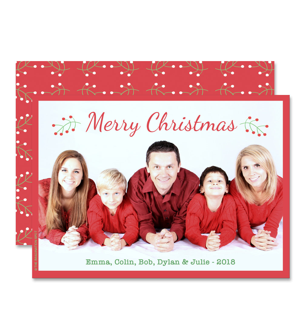 Personalized Holiday Photo Card - The Imagination Spot