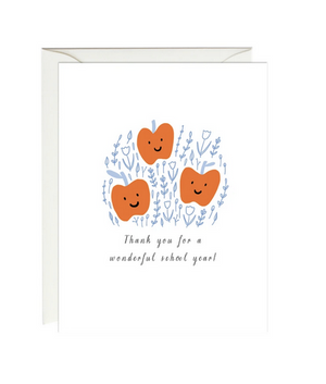 Thank You For A Wonderful School Year - Teacher Thank You Card