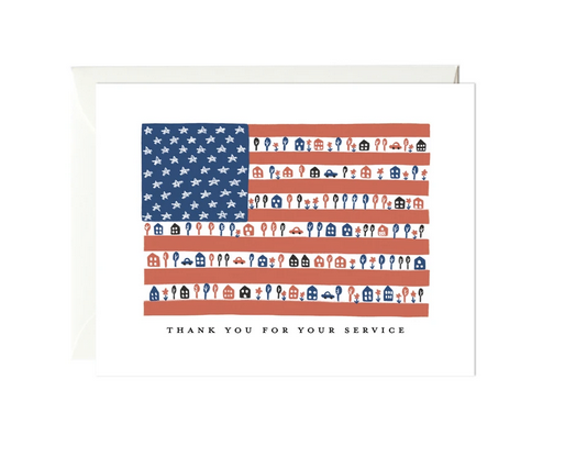 Thank You For Your Service - Greeting Card