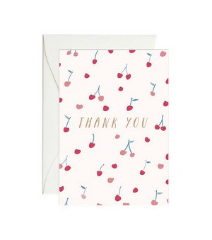 Thank You Cherries - Mini Gift Enclosure Card