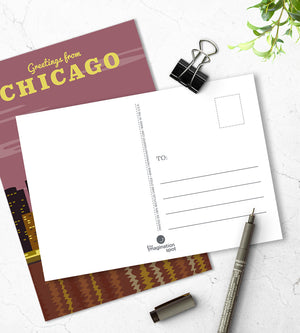 Chicago postcards - City postcards by The Imagination Spot