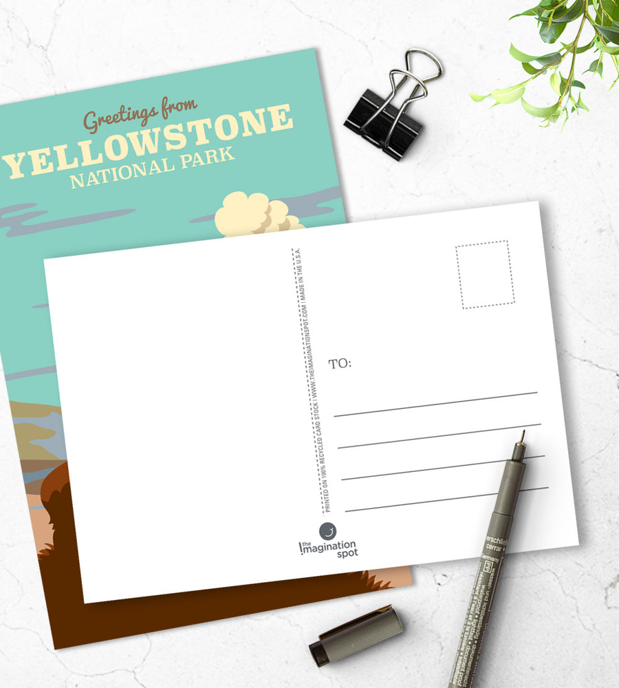 Yellowstone national part postcards - The Imagination Spot
